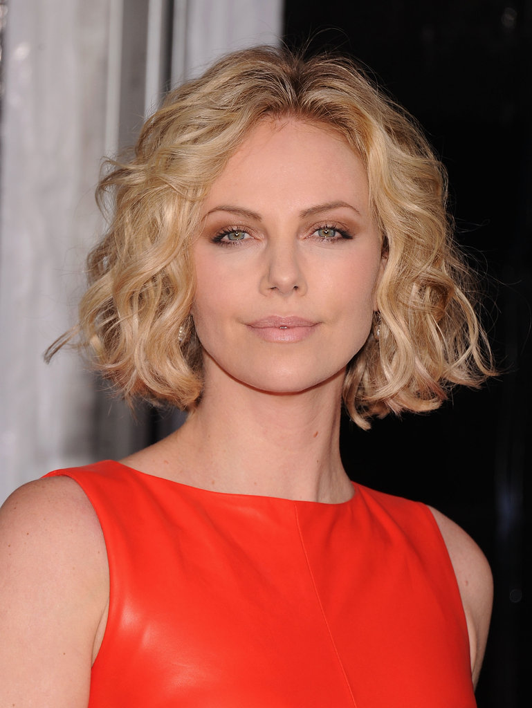 Charlize led the way in red.