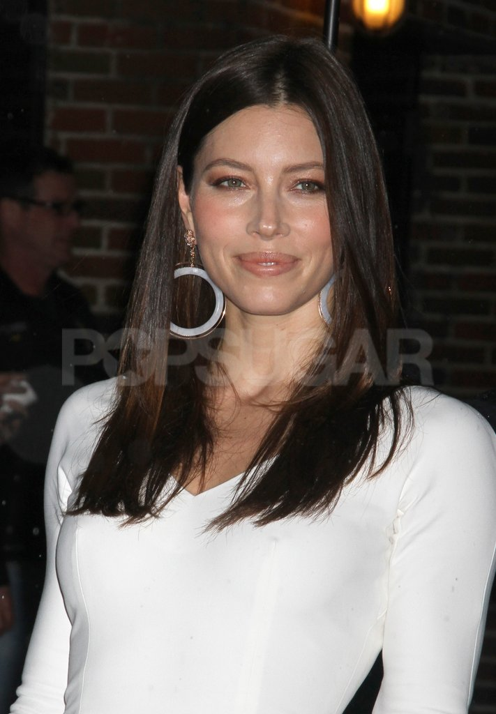 Jessica Biel smiled at her fans in NYC.