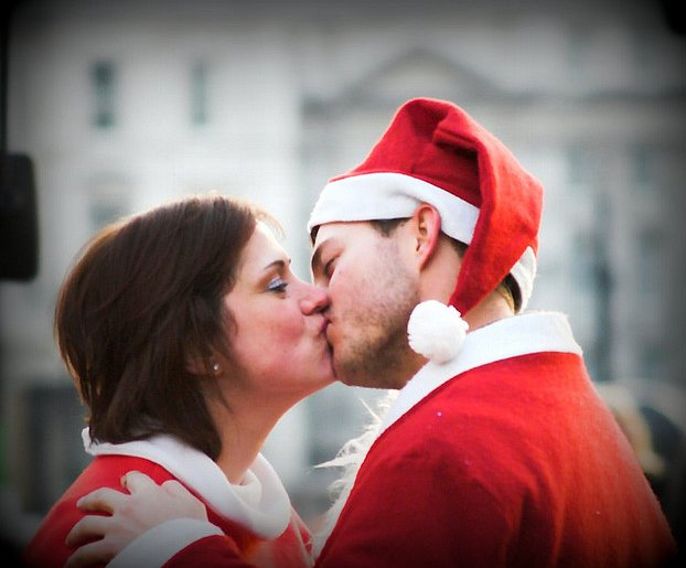 Santa found his Mrs. Claus!   Source: Flickr User gsnowdon