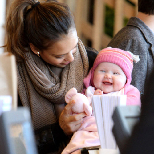 Jessica Alba Shops at West Elm With Cash, Honor, and Haven