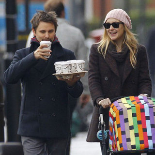 Kate Hudson & Matthew Bellamy Strolling in London With Bing