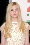 Elle Fanning was in Louis Vuitton in NYC.