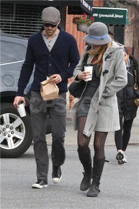 Blake Lively and Ryan Reynolds grabbed coffee in NYC.