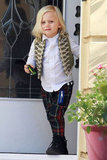 Zuma Rossdale wore a little vest in LA.