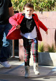 Kingston Rossdale ran around in LA.