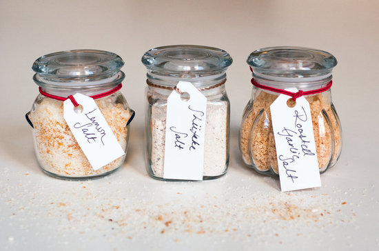 diy flavoured salts in mason jars