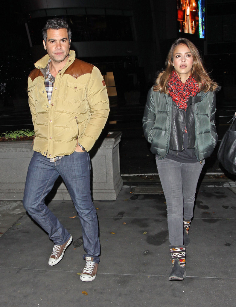 Jessica Alba and Cash Warren leaving the Watch the Throne concert in LA.