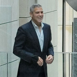 George Clooney Pictures at Australian Peace Conference