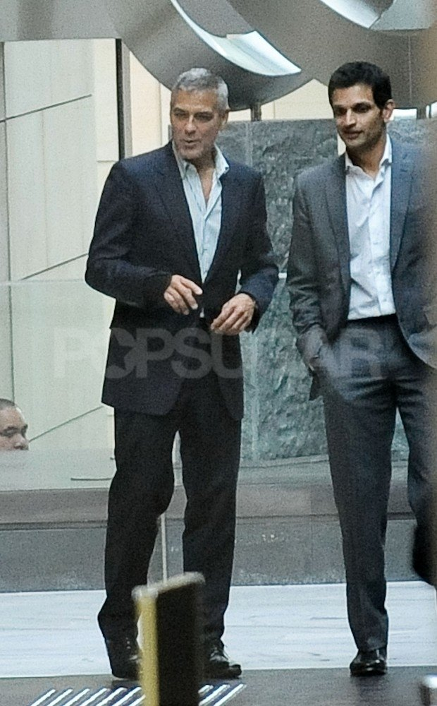 George Clooney walked into a casino with a friend.