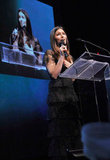 Jessica Biel talked about the importance of having clean drinking water in every nation.