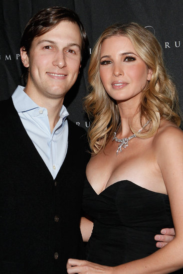 Ivanka Trump cozied up to her husband Jared Kushner.