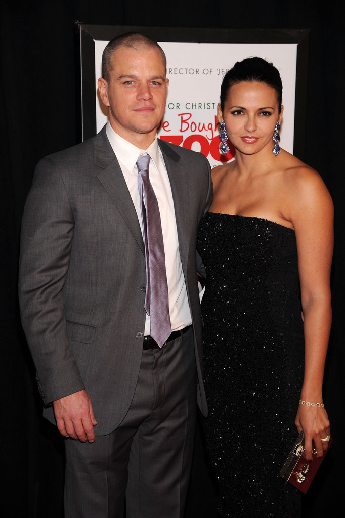 Matt and Luciana Damon went to see Matt's new family film together.
