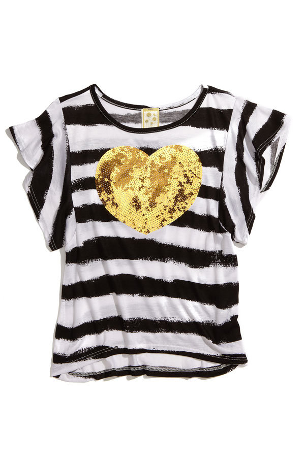 Kiddo Sequin Embellished Stripe Tee ($36)