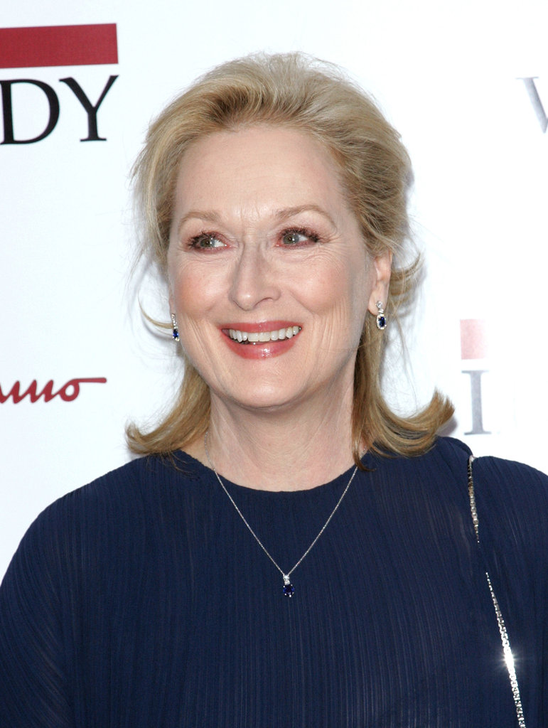 Meryl Streep couldn't help but smile on the red carpet.