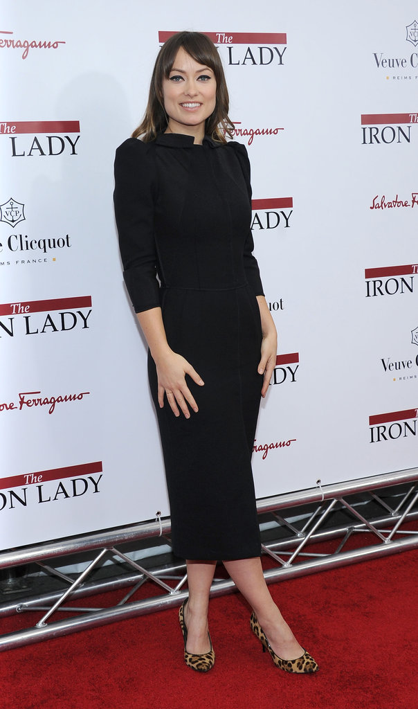 Olivia Wilde also went for classic black in a Dolce & Gabbana number.