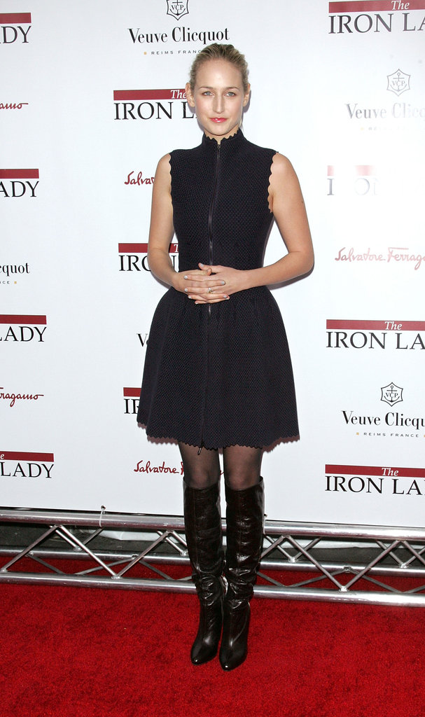 Leelee Sobieski slipped into an Alaia dress in NYC.
