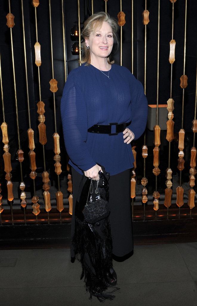 Meryl Streep partied at the Royalton Hotel in NYC.