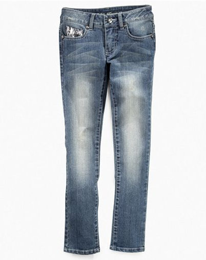 Guess Girls Skinny Jean With Zebra Sequins ($50)