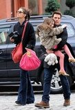 Suri got a lift from Tom.