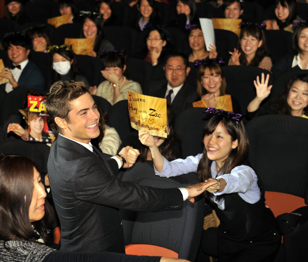 Zac got a warm reception from his Japanese fans.