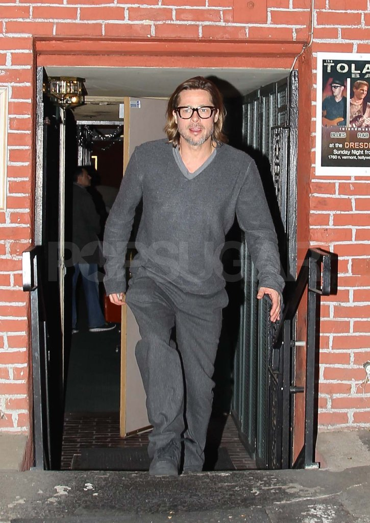 Brad Pitt at dinner in Los Feliz.