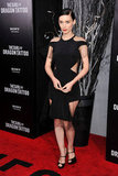 Rooney Mara went sleek and black for another premiere of The Girl With the Dragon Tattoo.
