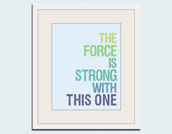 Star Wars Typography Print ($18)