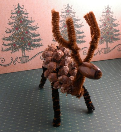 Pine Cone Reindeer