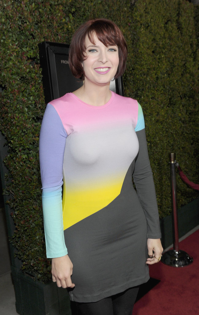 Diablo Cody wore a multicolored ensemble to the premiere of her latest film, Young Adult.
