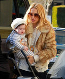 Skyler Berman rested on mom Rachel Zoe's hip.