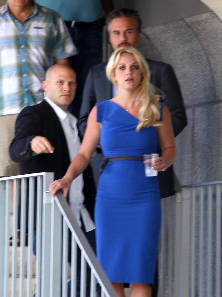 Britney dressed up for a date with Jason in LA to see the play The Lieutenant of Inishmore in August 2010.