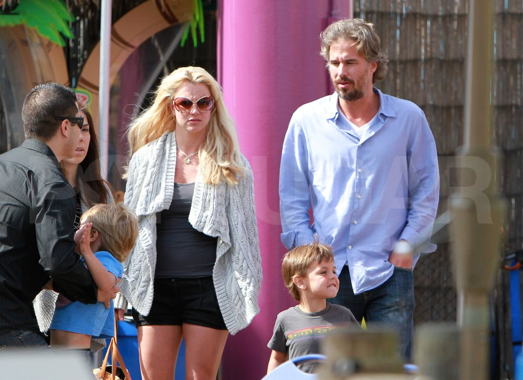 Britney and Jason shared a day at the Santa Monica Pier with her sons, Sean and Jayden, in June 2010.