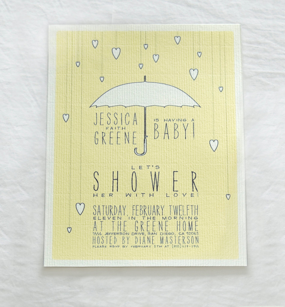 Umbrella and Hearts Baby Shower Invitations ($35 For 24)