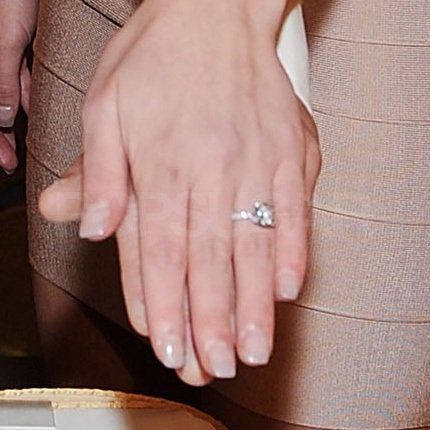 Britney showed off her Neil Lane engagement ring.