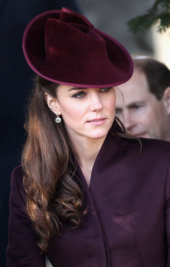 Kate fit right in with other royals on Christmas day.