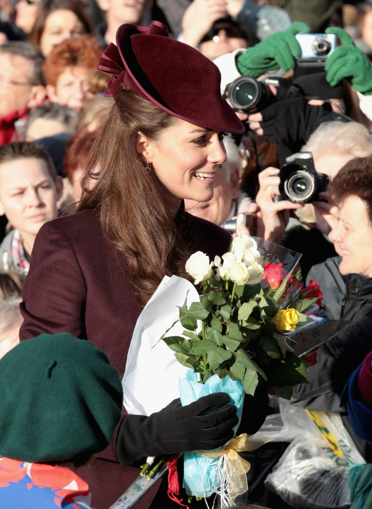 Kate greeted well wishers.