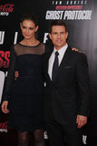 Katie Holmes and Tom Cruise at the MI4 premiere in NYC.