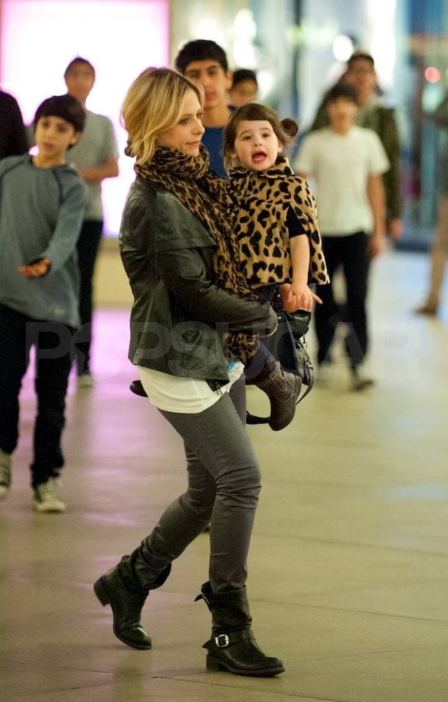 Sarah Michelle Gellar carrying Charlotte Prinze in LA.