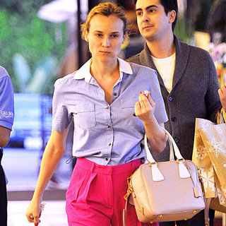 Diane Kruger Pink Pants Pictures in LA