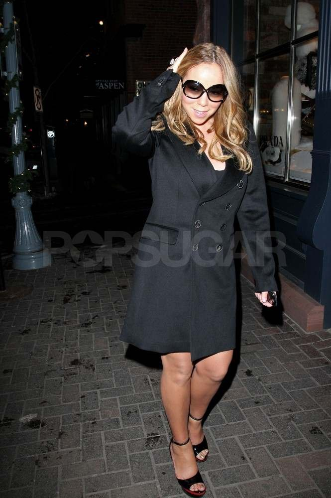 Mariah Carey shopping in Aspen.