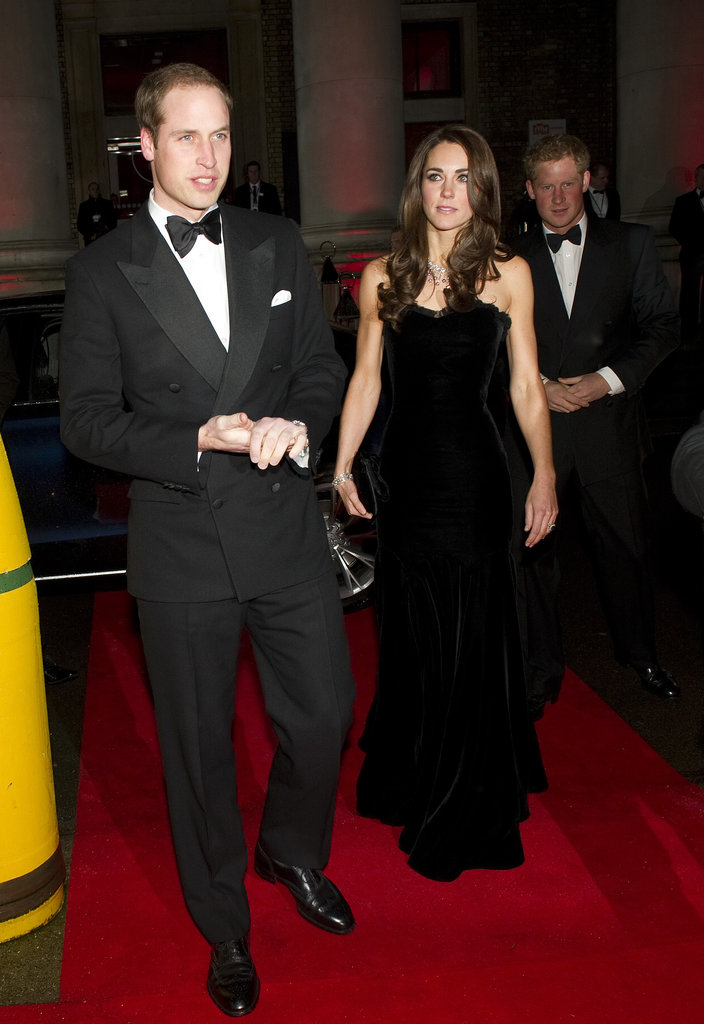 Prince William, Prince Harry and Kate Middleton went to a party together on Monday night.