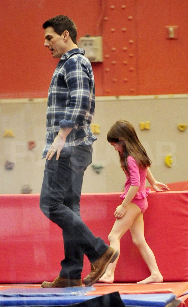 Tom Cruise and Suri Cruise played at Chelsea Piers.