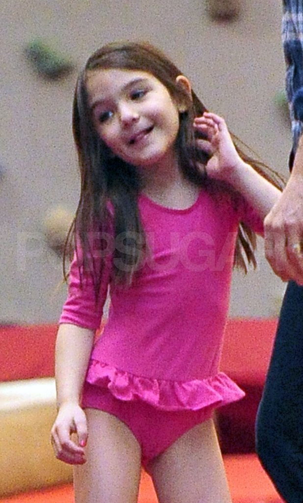 Suri Cruise danced at Chelsea Piers.