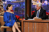 Sandra Bullock and Jay Leno kept making each other laugh.