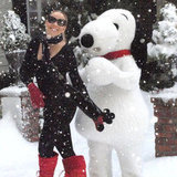 Mariah Carey shared a photo of fake snow from warm and sunny LA in December 2011. Source: Twitter user MariahCarey