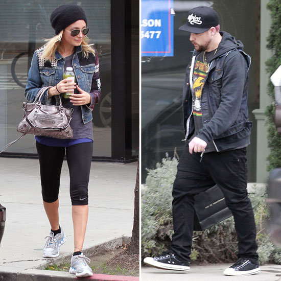Nicole Richie and Joel Madden Make Separate, but Matching, LA Outings