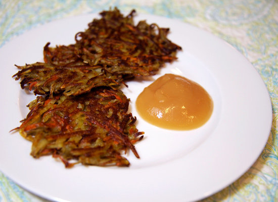 Crispy Carrot Rosemary Potato Latkes