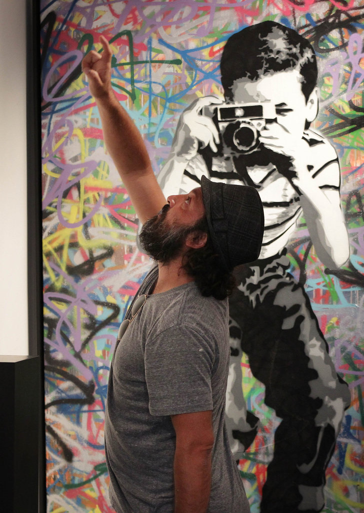 Smiling With Mr. Brainwash