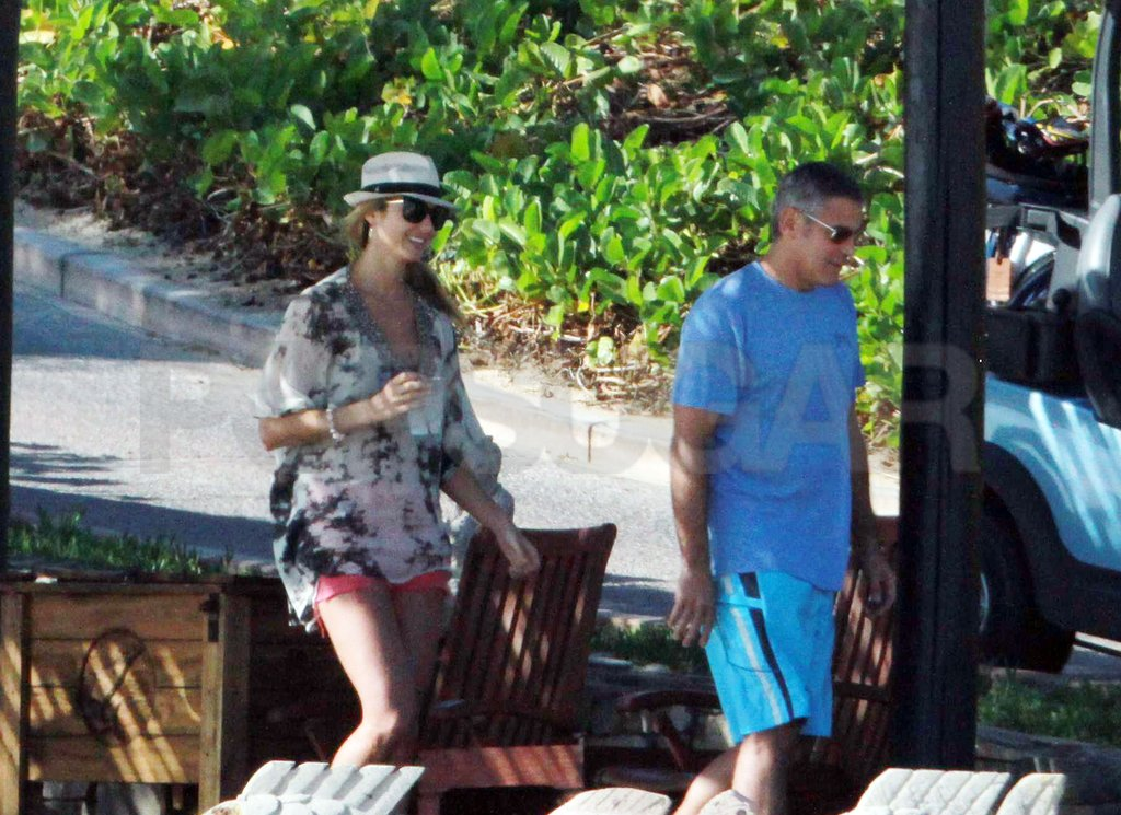 George Clooney and Stacy Keibler were back in Cabo.