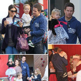 Mark Wahlberg and His Wife Take the Kids For a Visit With Santa